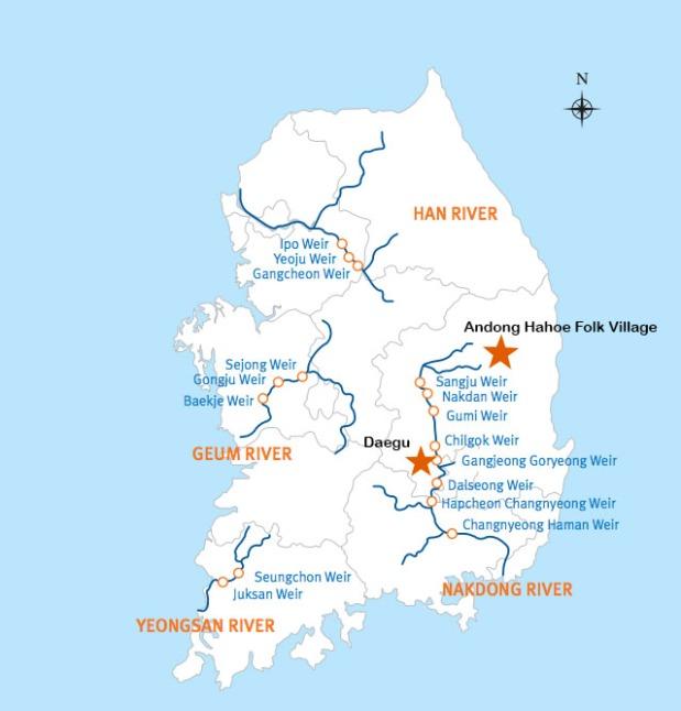 Daegu to Andong bike paths