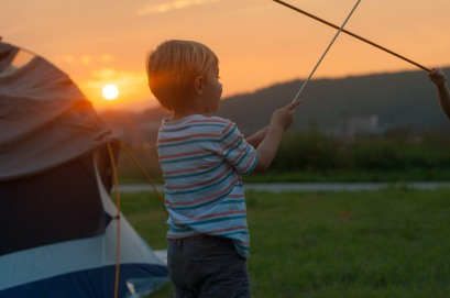 Camping with kids is our favorite. Nothing beats a childhood sunset.